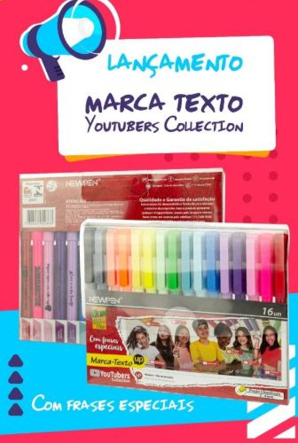Marca Texto UP YOUTUBERS COLLECTION 16 cores