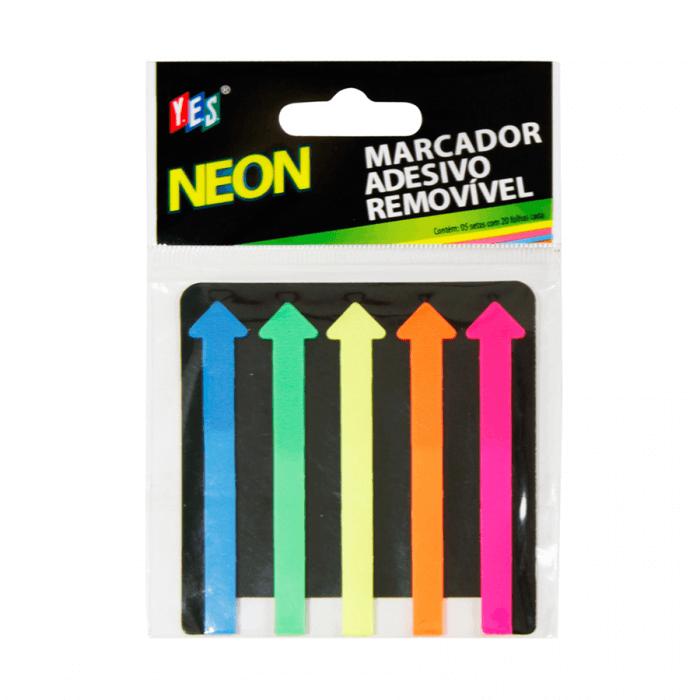Marcador Adesivo Removível Neon - Yes