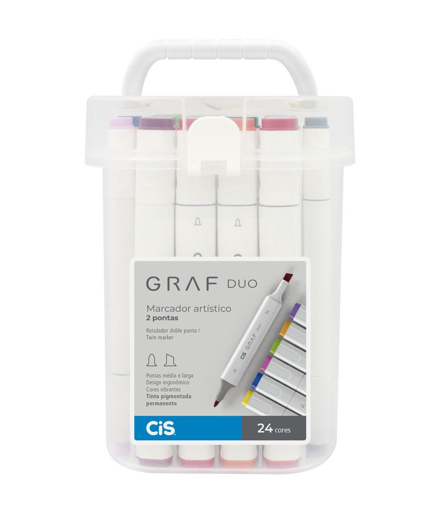 Marcador Artístico Graf Duo 24 Cores - CIS