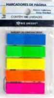 Marcador de página 5 cores neon 100unidades