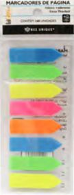Marcador de página 6 cores neon 160unidades