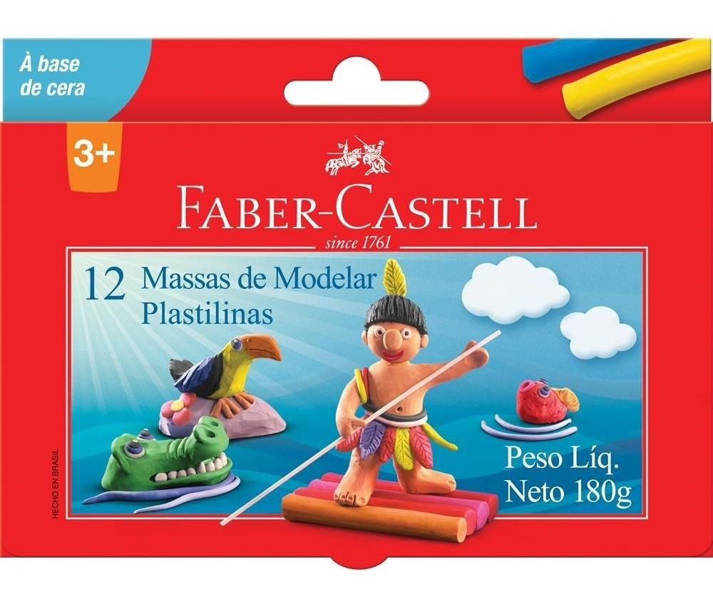 Massa de Modelar 12 Unidades - Faber Castell