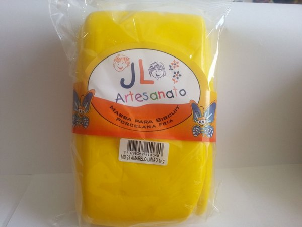 Massa Para Biscuit 1Kg Amarelo Limão MB23 JL Artesanato