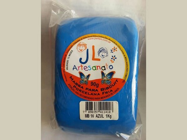 Massa Para Biscuit 1Kg Azul MB16 JL Artesanato