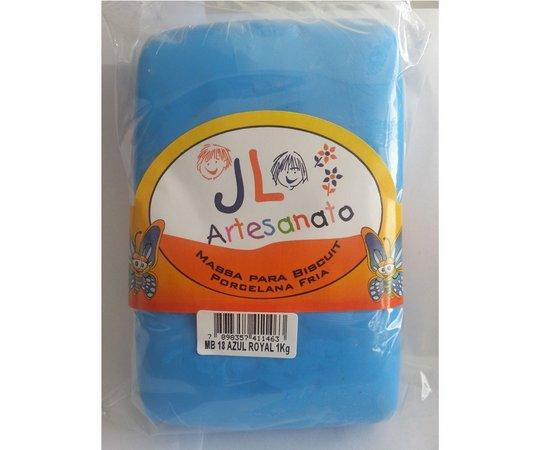 Massa Para Biscuit 1Kg Azul Royal MB18 JL Artesanato