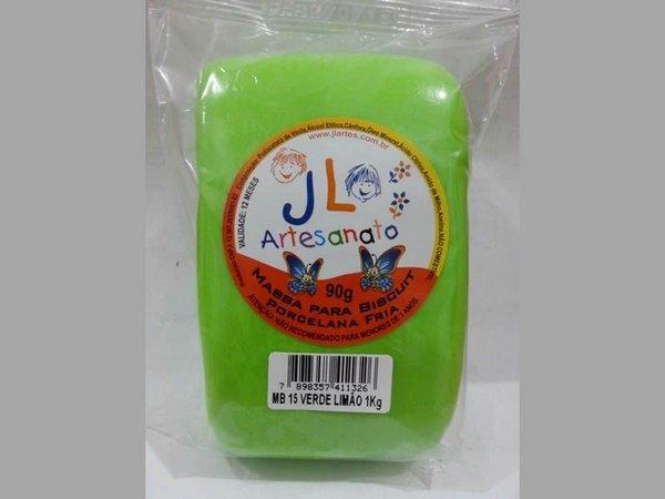 Massa Para Biscuit 1Kg Verde Limão MB15 JL Artesanato