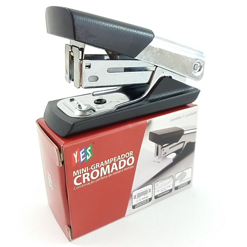 Mini Grampeador Cromado - YES