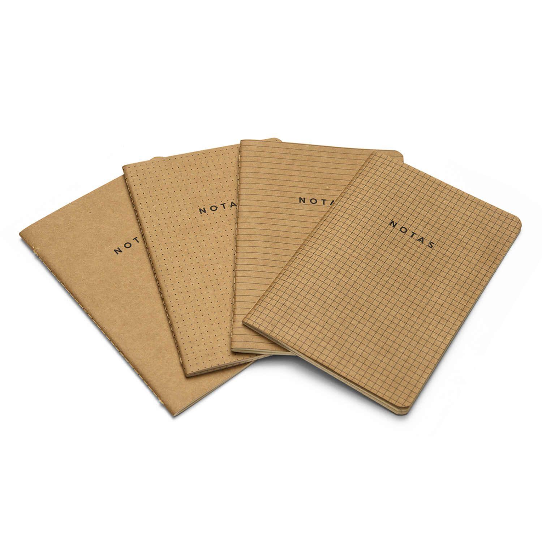 PROMOÇÃO - Notas Mix - Kit de 4 revistas com Miolos Variados Marrom - Cicero