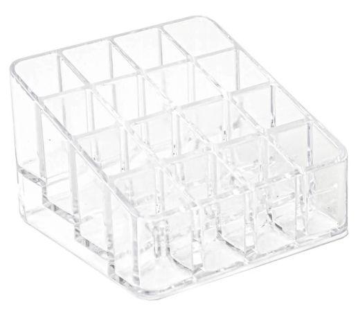 Organizador de Cosméticos Compacto 1 cristal 16 div - Dello