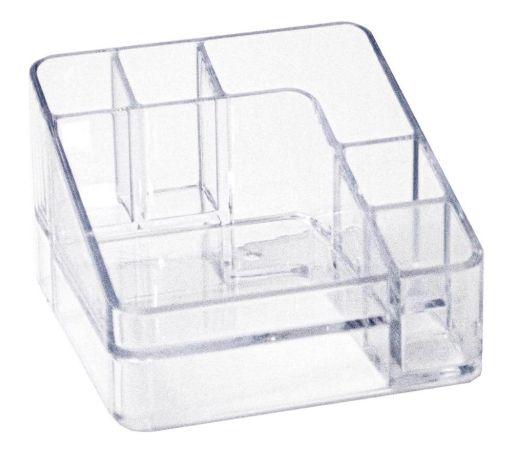 Organizador de Cosméticos Compacto  cristal 6 div - Dello