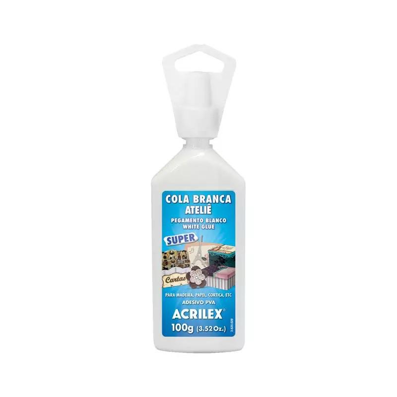 Pacote cola branca Ateliê 100g 3 unidades - Acrilex