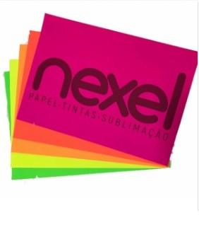 Papel Adesivo neon a4 20fls nexel - 5 cores