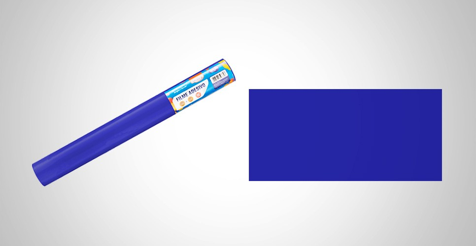 Papel Contato 45cmx10m Azul BRW
