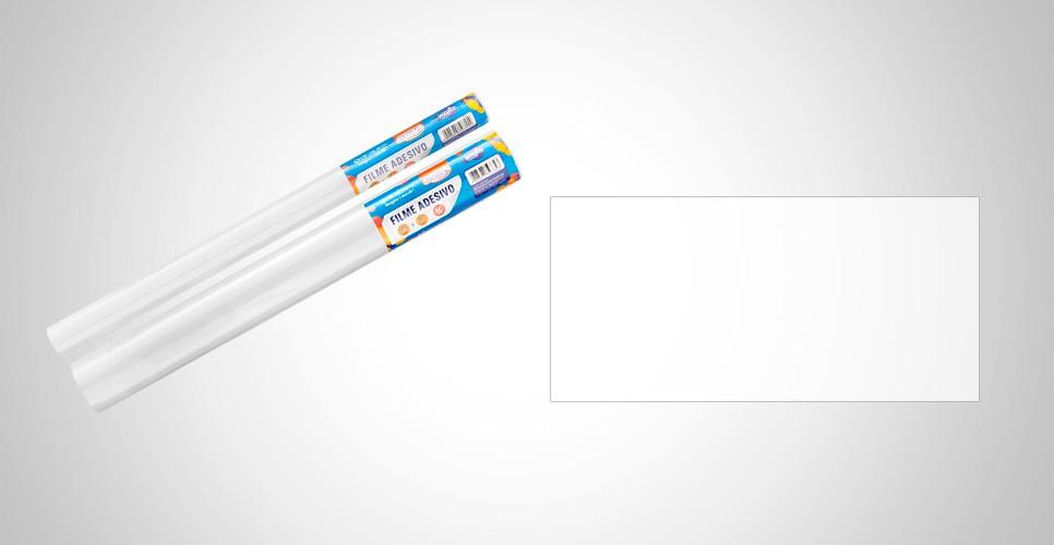 Papel Contato 45cmx10m Branco BRW