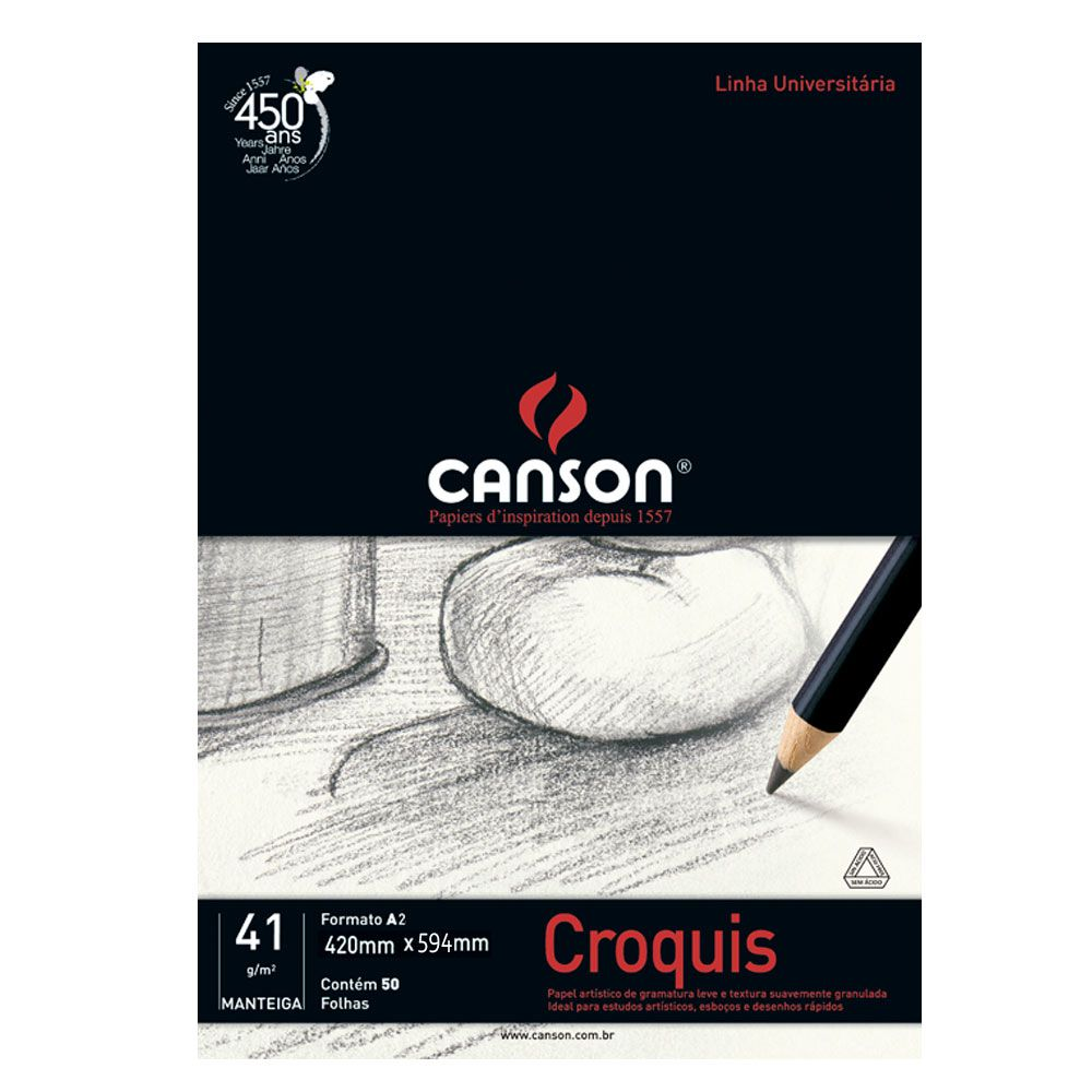 Papel Croquis 41g/m - Canson