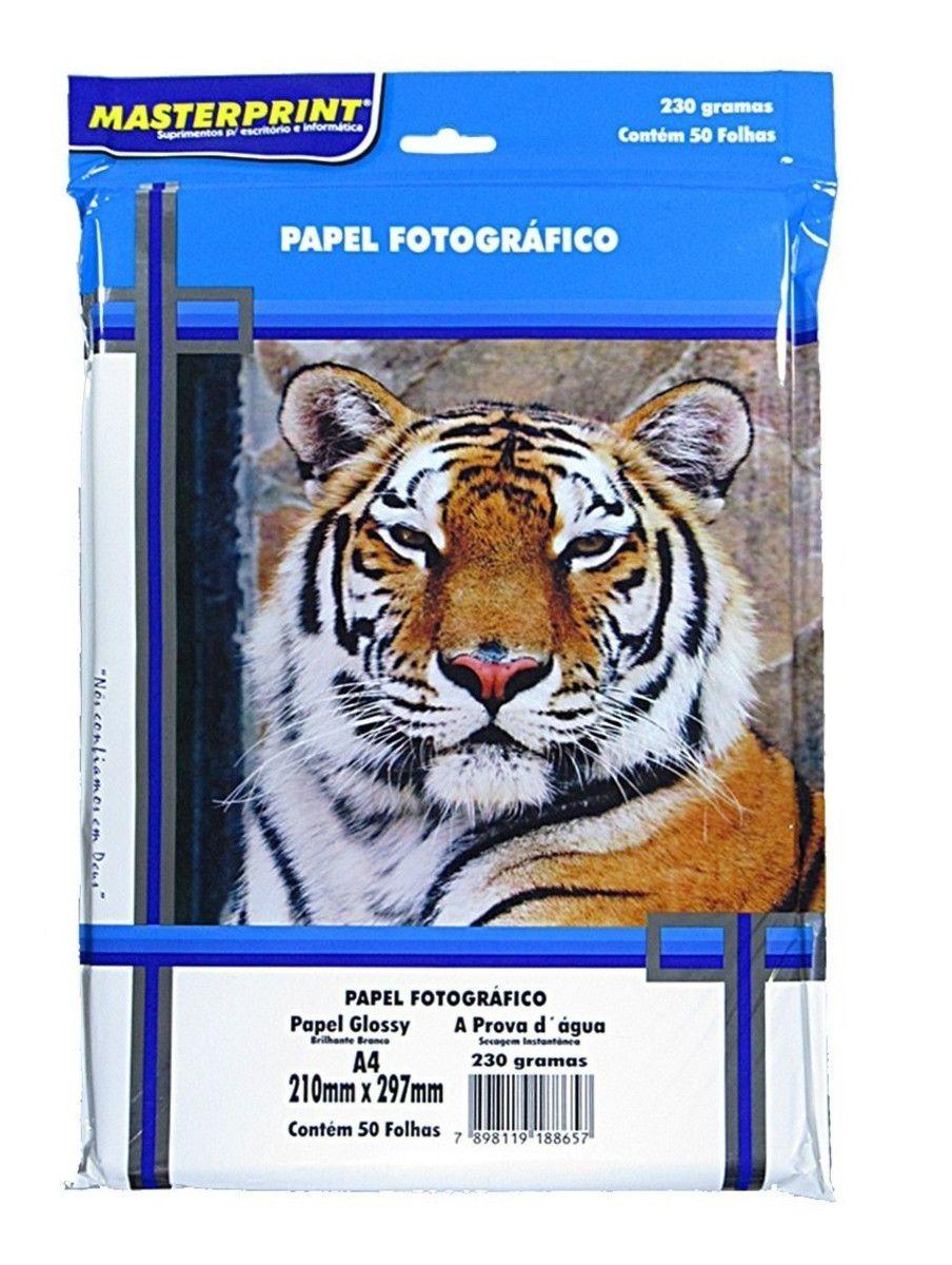 Papel Fotográfico A4 230g 50 Folhas - Masterprint
