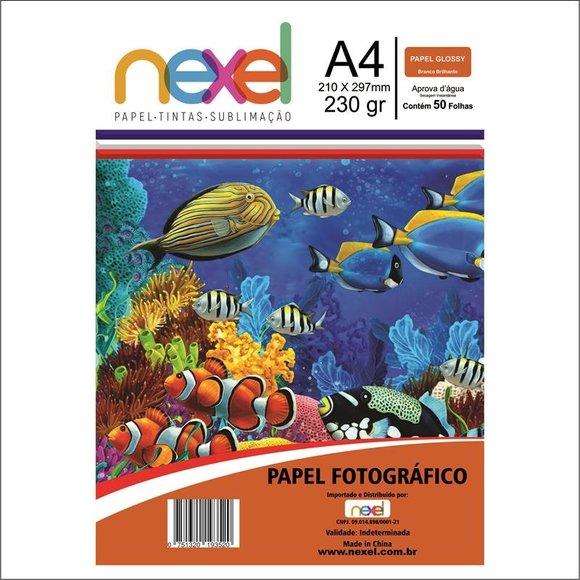 Papel fotográfico A4 230gr - Nexel