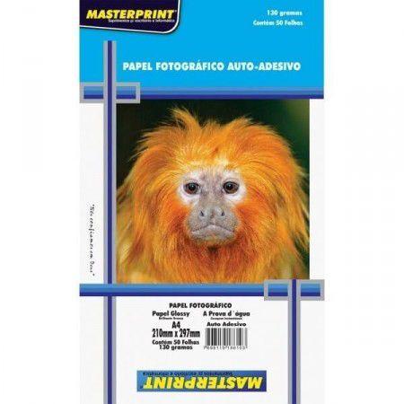 Papel Fotográfico Auto-Adesivo A4 130g - Masterprint