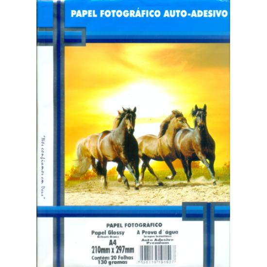 Papel Fotográfico Auto-Adesivo Glossy A4 130g - Masterprint