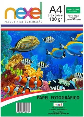 Papel Fotográfico Glossy A4 180g 50fls - Nexel