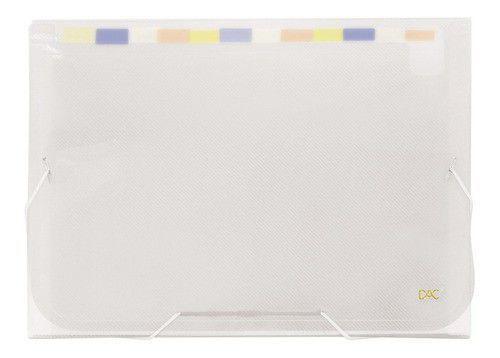 Pasta Sanfonada A4 Line c/ 12 divisórias Transparente - DAC