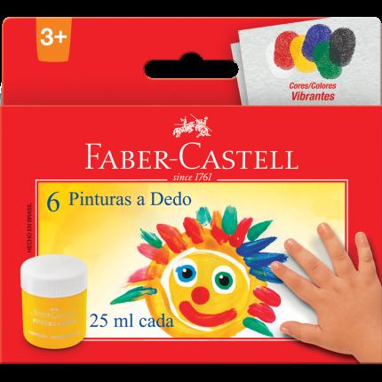 Pintura a Dedo 6 Cores - Faber Castell