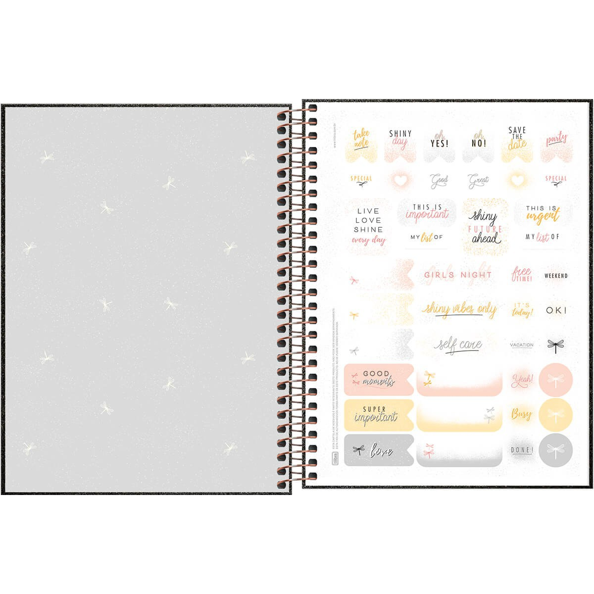 Planner Espiral Dourado Cambridge Shine 2021