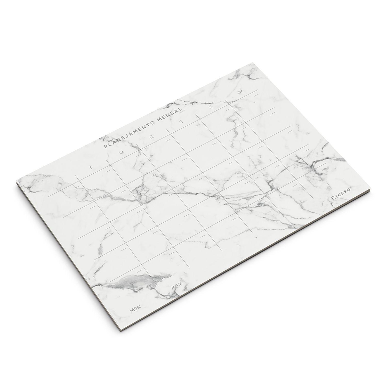 Planner Mensal Marmore A4 - Cicero