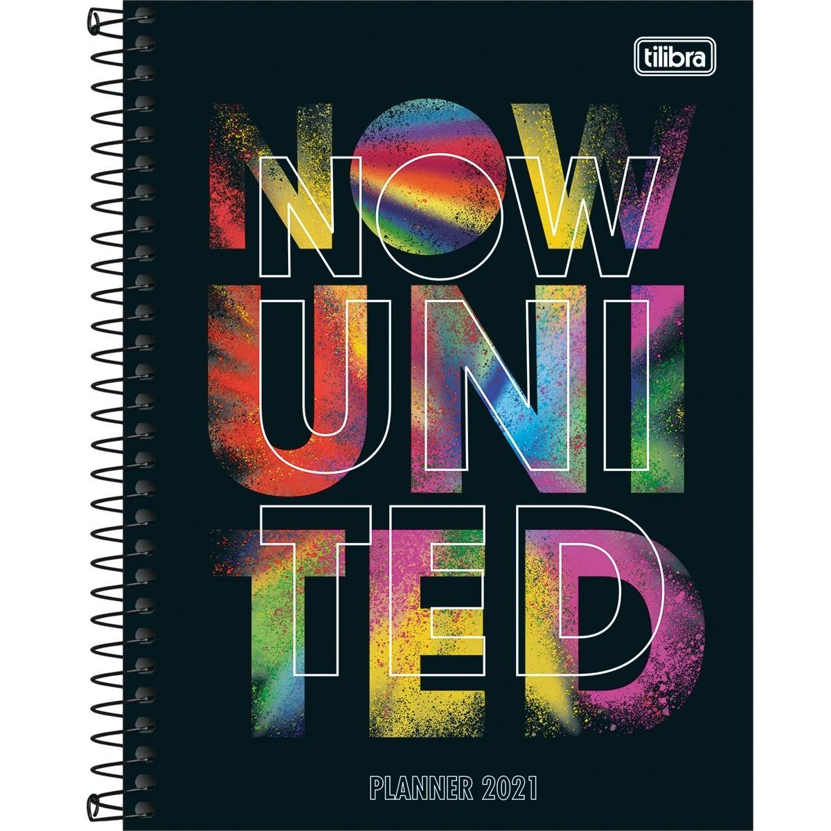 Planner Now United Preto - Tilibra