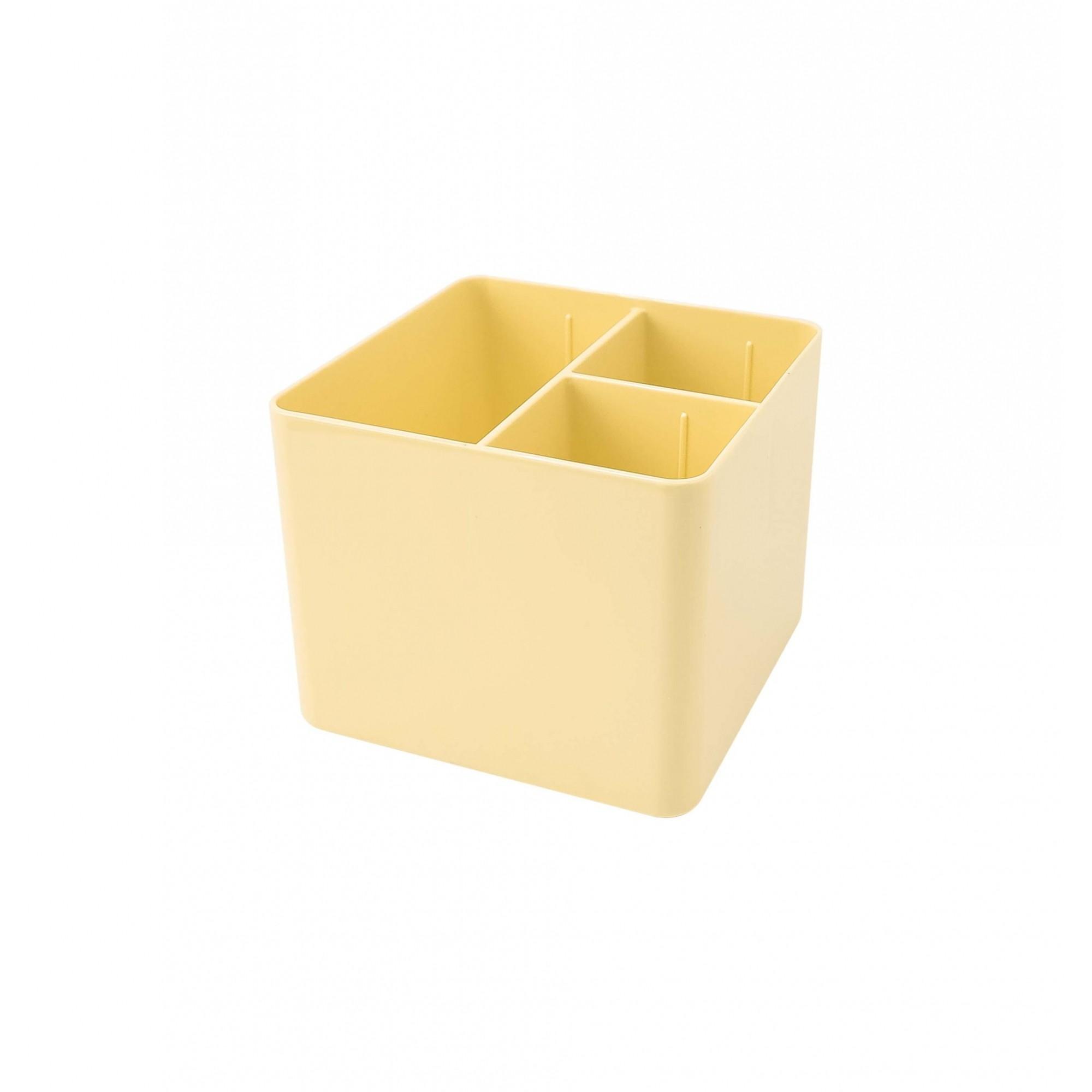 Porta Objeto com 3 Divisórias Tons Pasteis - Dello