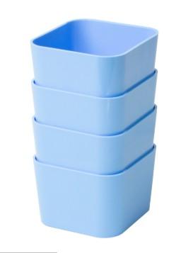 Porta Objetos Pequeno – Kit c/ 4 Peças Azul pastel