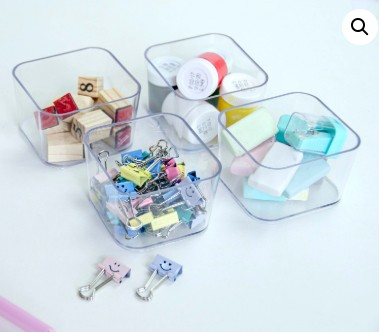 Porta Objetos Pequeno – Kit c/ 4 Peças CRISTAL