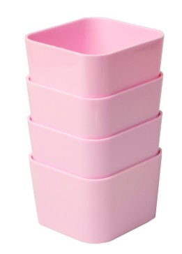 Porta Objetos Pequeno – Kit c/ 4 Peças ROSA pastel