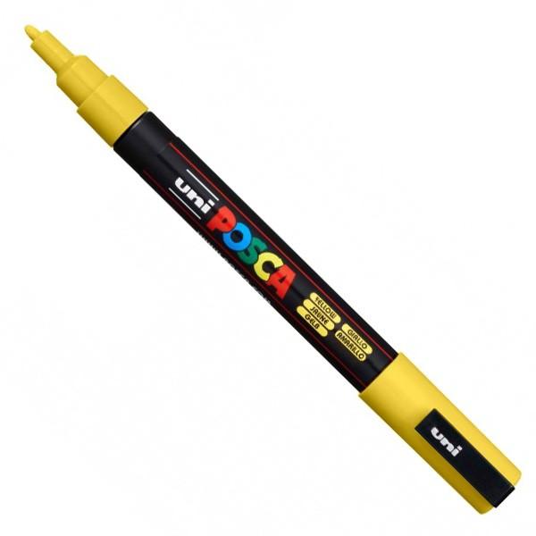 Posca 3m amarela gliter