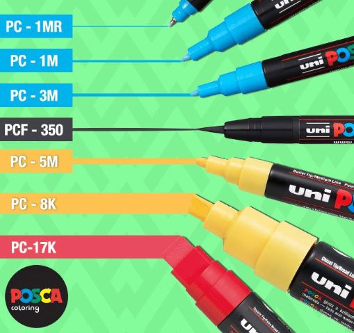 Posca Soft pc-1m 8 cores