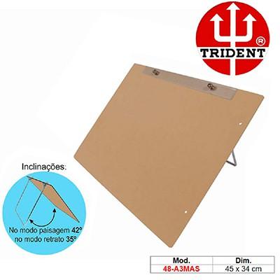 Prancheta MDF A3 c/prend.metálico 48-A3-MAS Trident