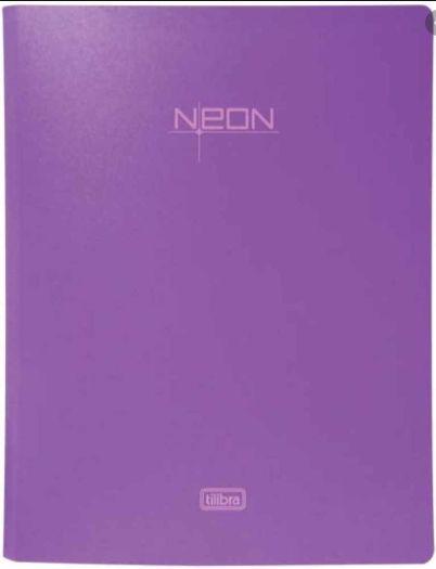 PROMOÇÃO - Fichário 4 argolas Neon - GRATÍS 1 REFIL 120GR