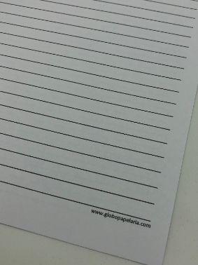 Refil para Fichário pautado A4 60 folhas 120g