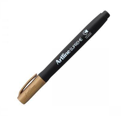 PROMOÇÃO - Supreme Brush Marker - Artline dourado prata