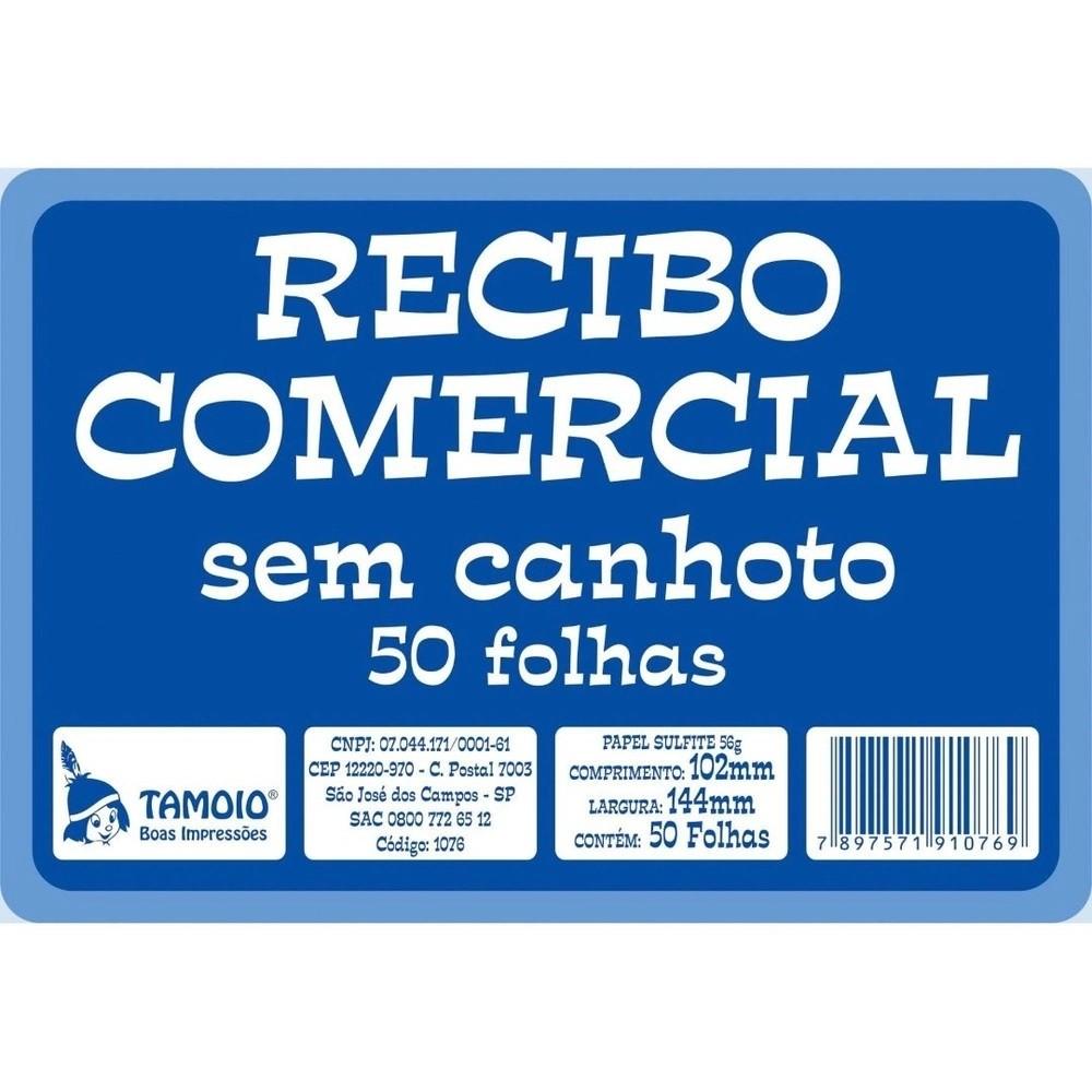 Recibo Comercial Sem Canhoto 50 Folhas - Tamoio