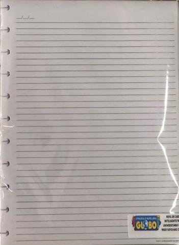 Refil caderno inteligente pautado Reciclado 90g Grande 50fls
