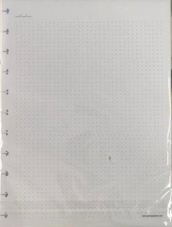 Refil caderno inteligente pontilhado  90g Grande 50fls