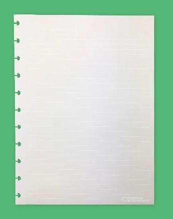 Refil Pautado Linhas Brancas Caderno Inteligente Tamanho A5