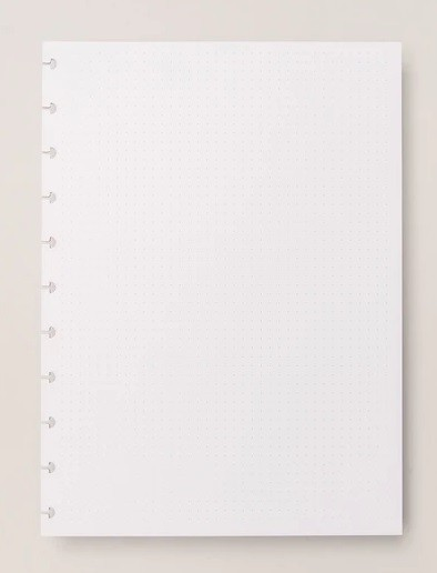 Refil pontilhado 90gr Caderno Inteligente Tamanho A5