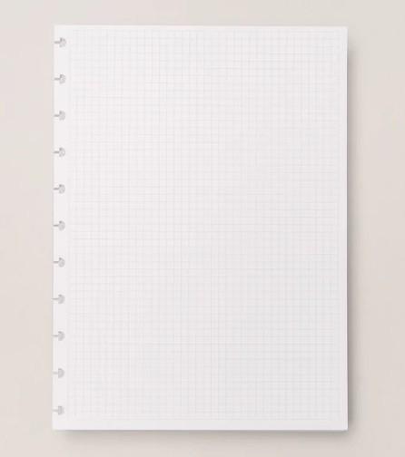 Refil Quadriculado 90gr Caderno Inteligente Tamanho Grande
