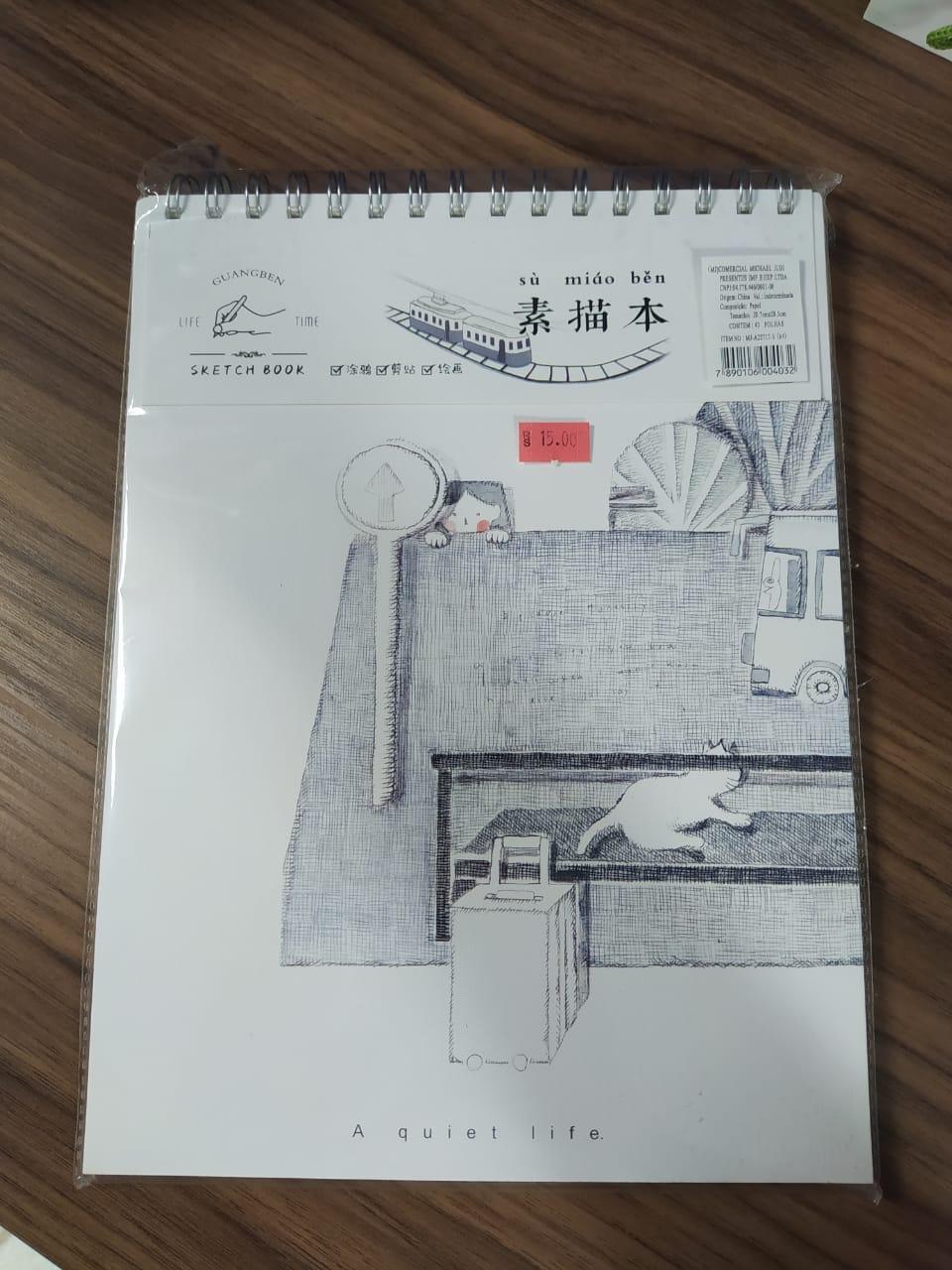 Sketchbook Guangben Life Time 43 Folhas