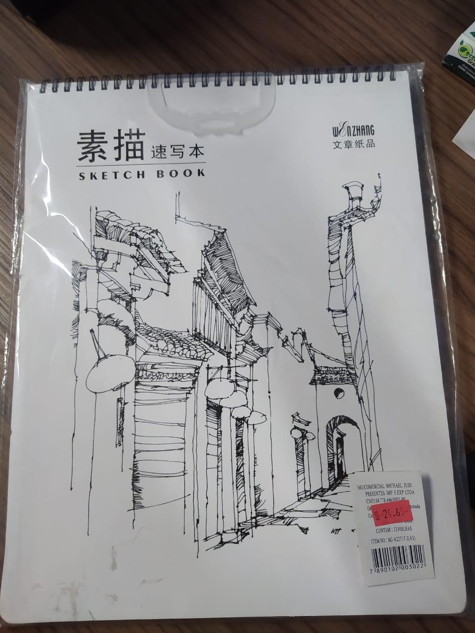 Sketchbook wenzhang 33 folhas