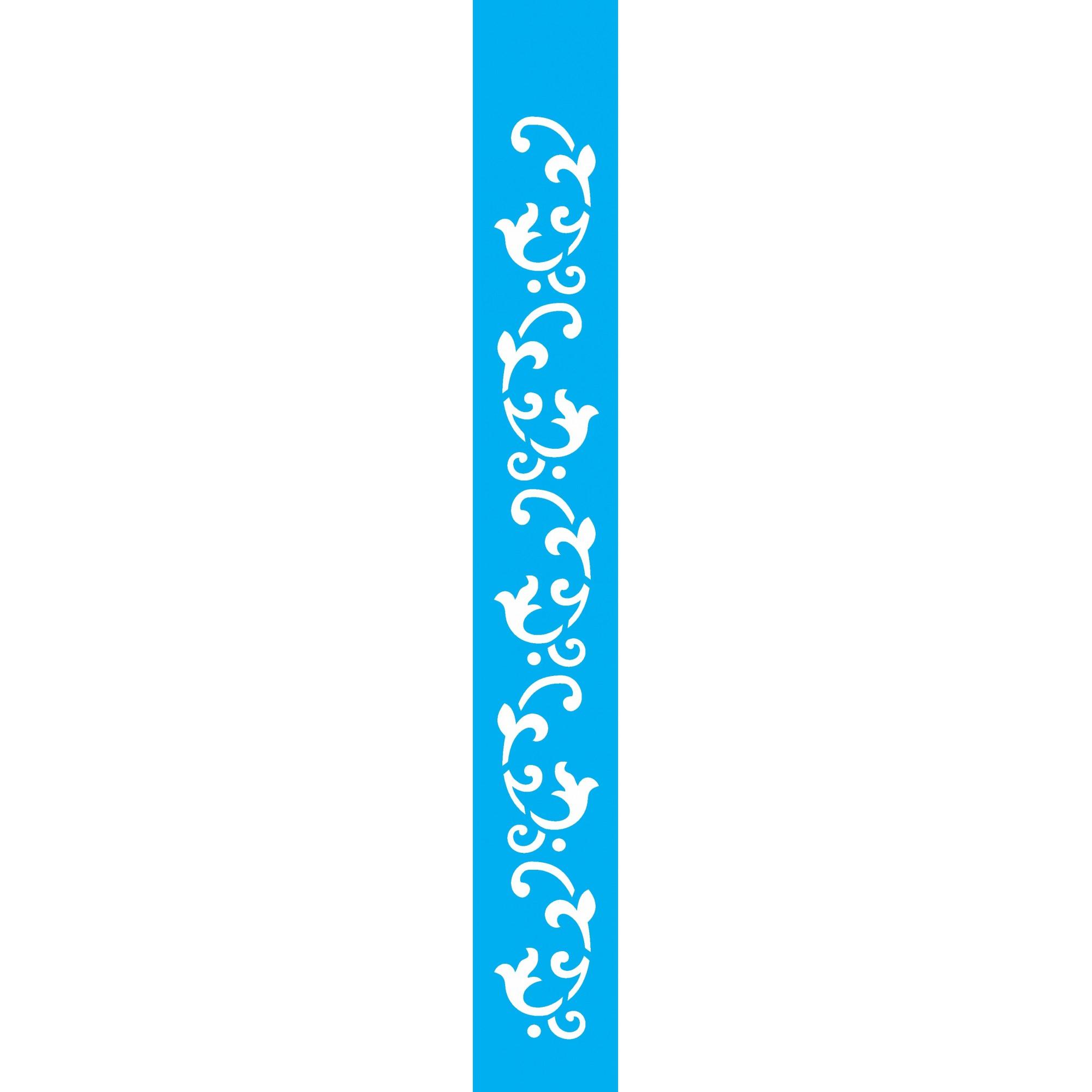 Stencil arabesco folhas 4x30