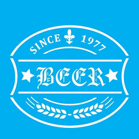 Stencil rotulo de cerveja 10x10