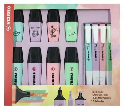 Suprioeste Kit Stabilo Pastel Collection c/12 unidades